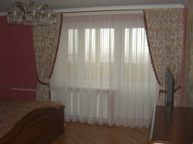 50 вариантов фото новинок штор для балкона - Вариант 8