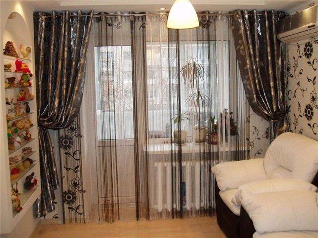 50 вариантов фото новинок штор для балкона - Вариант 17