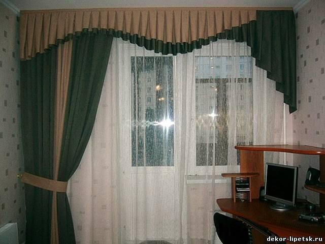 50 вариантов фото новинок штор для балкона - Вариант 10