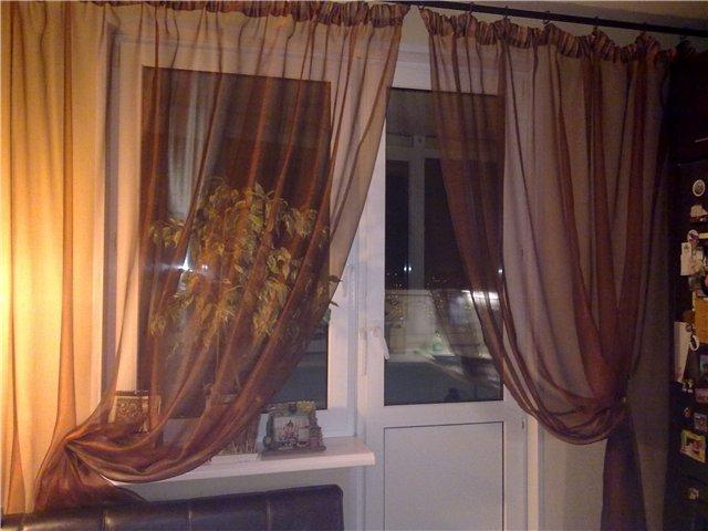 50 вариантов фото новинок штор для балкона - Вариант 16