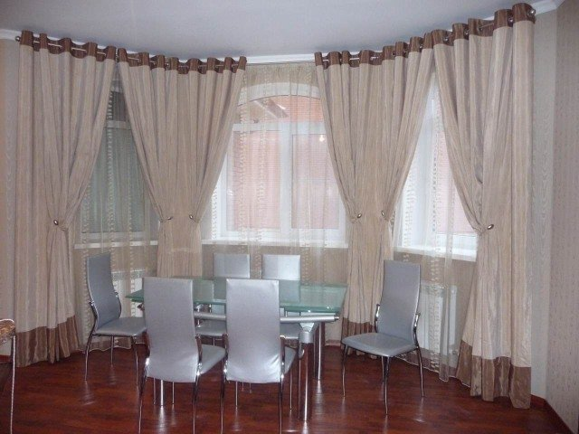 100 вариантов фото штор на люверсах - Вариант 10