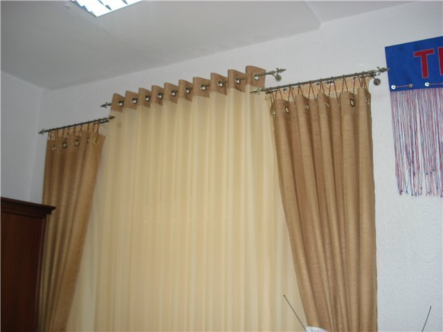 100 вариантов фото штор на люверсах - Вариант 15