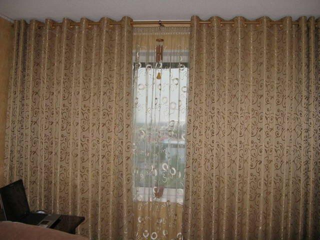 100 вариантов фото штор на люверсах - Вариант 21