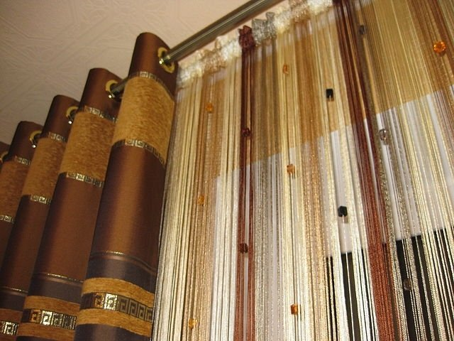 100 вариантов фото штор на люверсах - Вариант 24