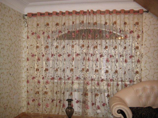 100 вариантов фото штор на люверсах - Вариант 39