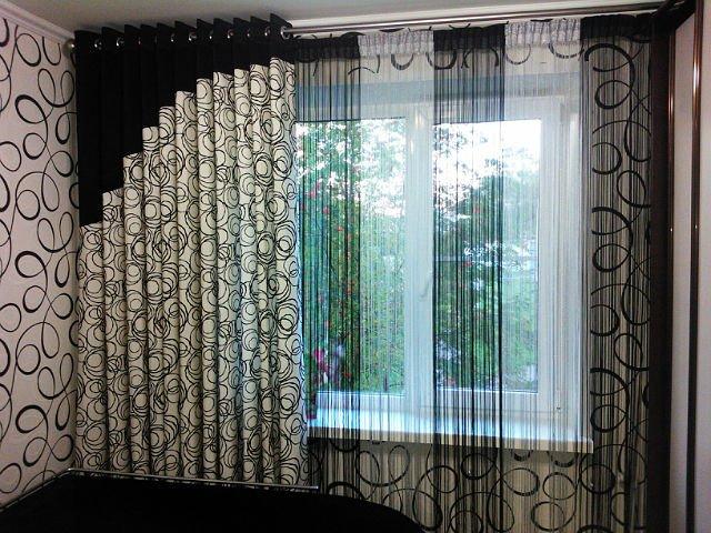 100 вариантов фото штор на люверсах - Вариант 45