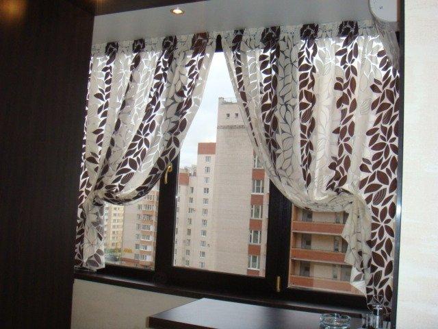 100 вариантов фото штор на люверсах - Вариант 49