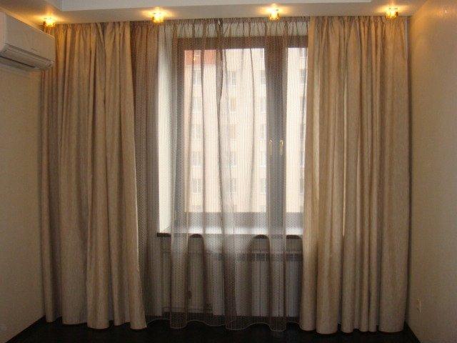 100 вариантов фото штор на люверсах - Вариант 48