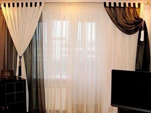100 вариантов фото штор на люверсах - Вариант 1