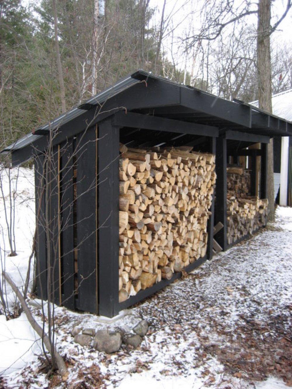 Как построить дровяник на даче. Дровяник своими руками - нужное сооружение