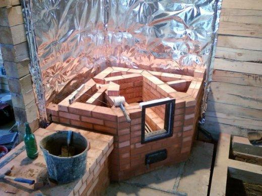 Печка в дом из кирпича своими руками