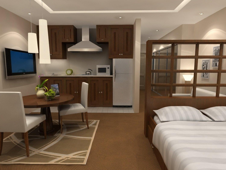 Возможно ли из кухни сделать спальню в однокомнатной комнате (фото) 44