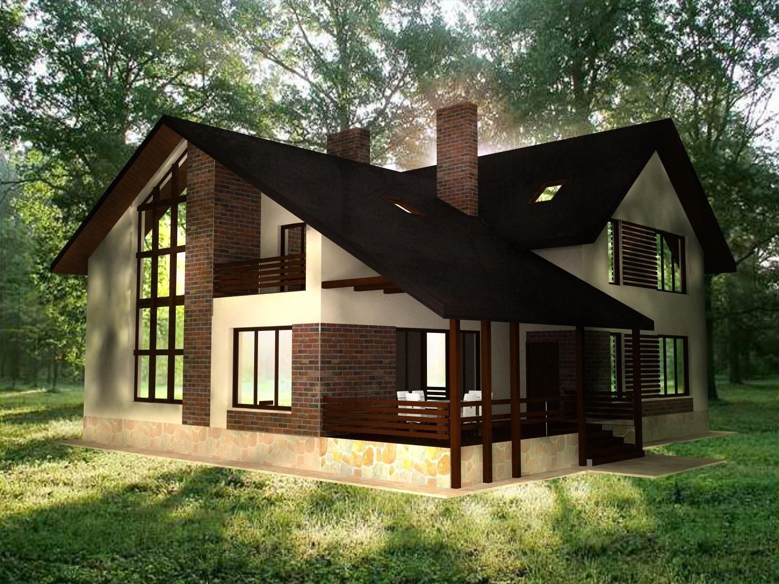 фасад дома фото частных домов
