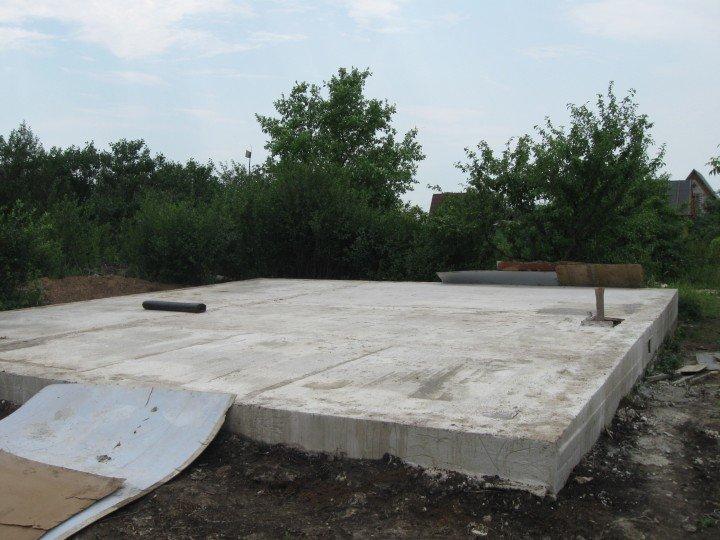 Фундамент для дома из газобетона своими руками плита